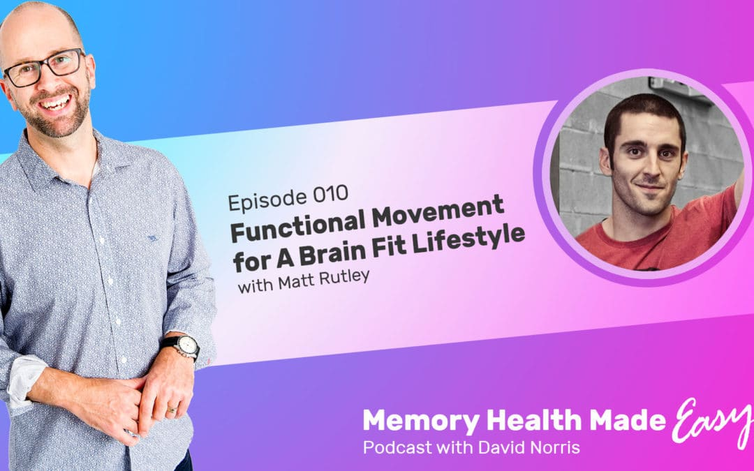 Podcast Ep 010: Functional Movement for A Brain Fit Lifestyle with Matt Rutley