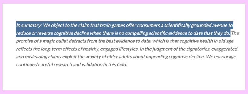 Standford_Brain Training Evidence_Scientific Community